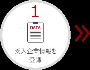 受入企業情報を登録